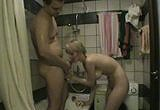 Amatérsky sex v koupelně