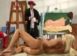 Nadržený malíř vyšuká krásnou modelku, kterou maluje