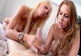 Dvě luxusní prsatky Alanah Rae a Tanya James uspokojí jedno péro