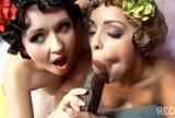 Liza Del Sierra a Angell Summers společně šukají s černochem